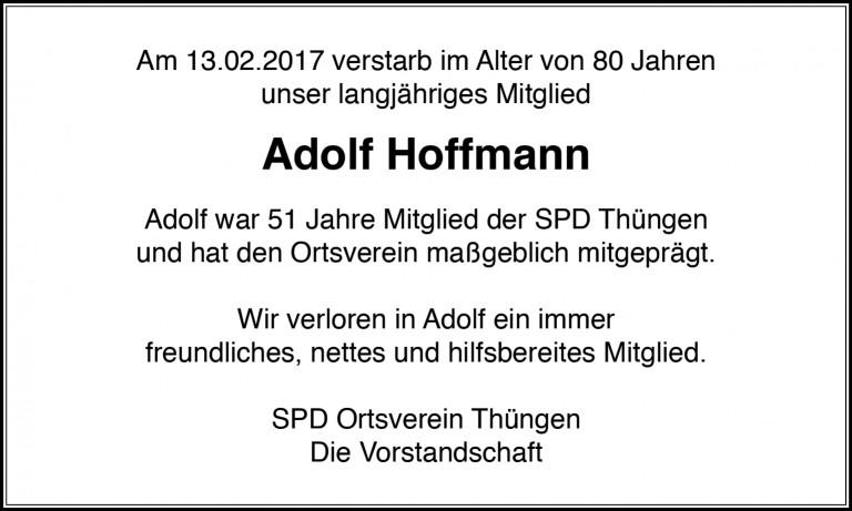 Abschied Adolf Hoffmann